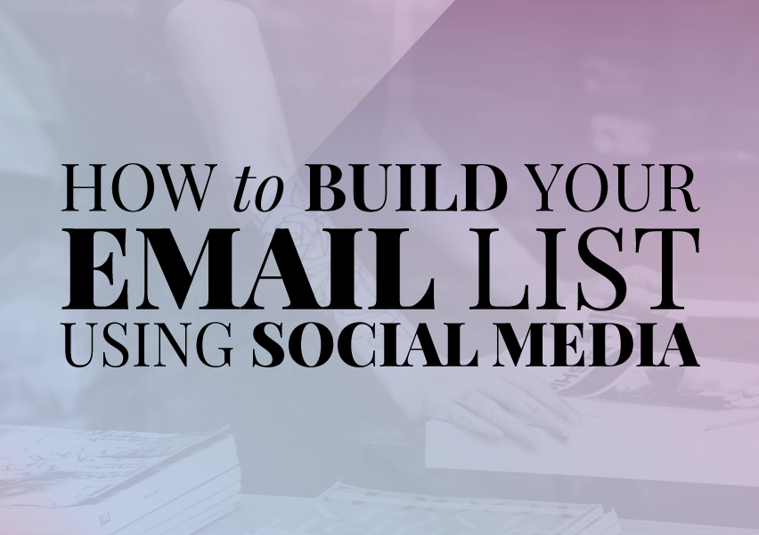 How to build your email list with social media @shieldsisterswq