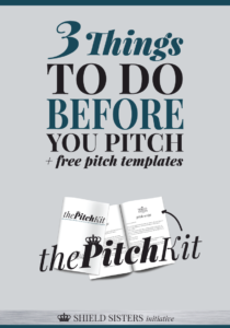 what to do before you pitch