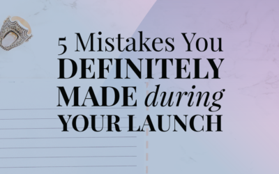 5 Mistakes You Definitely Made During Your First Launch