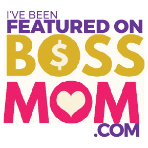 Boss Mom Button White